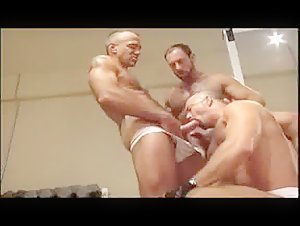 Eric Evans - gym threesome