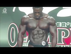 Terrence Ruffin in black posers bulge Posing Routine Olympia 2020