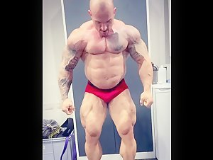 Big Strong Alpha Tatted Bodybuilder Flexing to Make You Cream Your Jeans