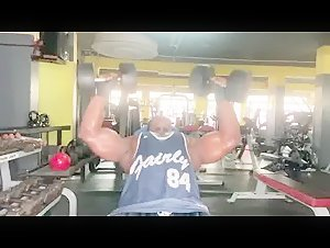Huge biceps and chest training