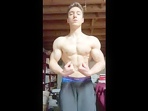 Young sexy muscle