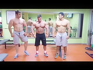 3 bodybuilder friends